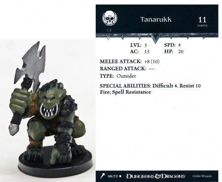 Tanarukk #59 Giants of Legend D&D Miniatures