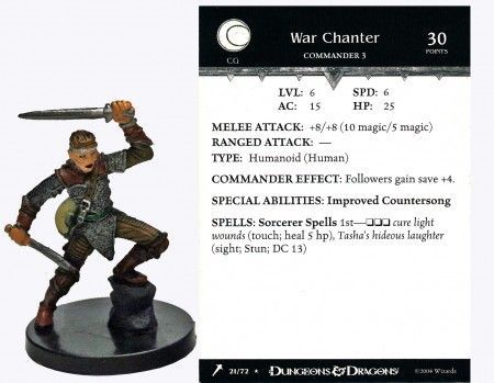 War Chanter #21 Giants of Legend D&D Miniatures