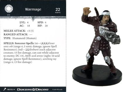 Warmage #07 Giants of Legend D&D Miniatures