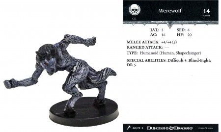 Werewolf #60 Giants of Legend D&D Miniatures