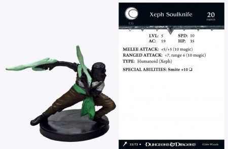 Xeph Soulknife #22 Giants of Legend D&D Miniatures