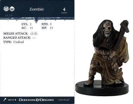 Zombie #40 Giants of Legend D&D Miniatures