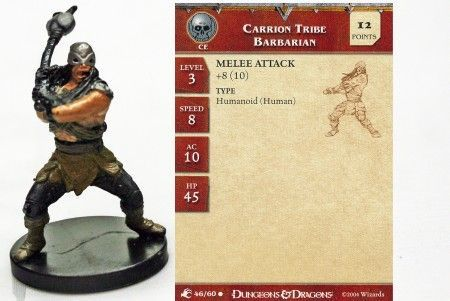 Carrion Tribe Barbarian #46 Aberrations D&D Miniatures