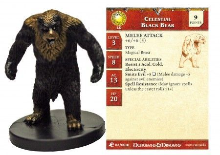 Celestial Black Bear #03 Aberrations D&D Miniatures