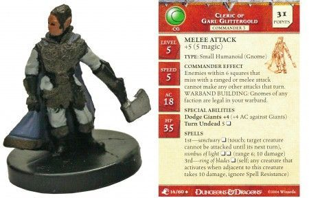 Cleric of Garl Glittergold #14 Aberrations D&D Miniatures