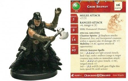 Crow Shaman #15 Aberrations D&D Miniatures