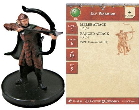 Elf Warrior #16 Aberrations D&D Miniatures