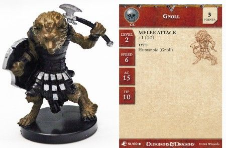 Gnoll #51 Aberrations D&D Miniatures