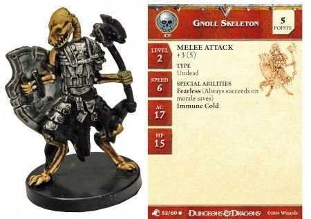 Gnoll Skeleton #52 Aberrations D&D Miniatures