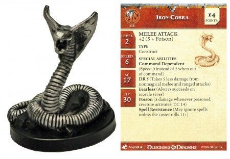 Iron Cobra #36 Aberrations D&D Miniatures