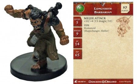 Longtooth Barbarian #19 Aberrations D&D Miniatures
