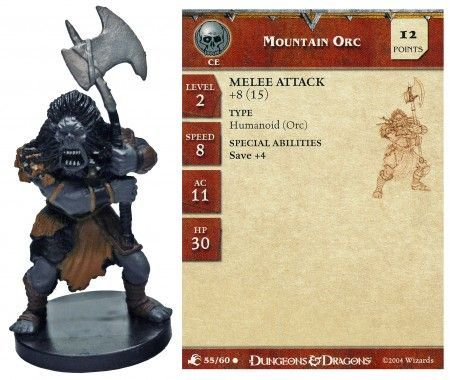 Mountain Orc #55 Aberrations D&D Miniatures
