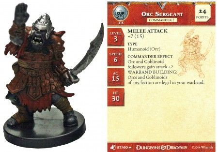 Orc Sergeant #57 Aberrations D&D Miniatures