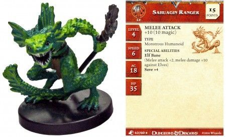 Sahuagin Ranger #42 Aberrations D&D Miniatures