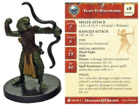Yuan-Ti Halfblood #60 Aberrations D&D Miniatures