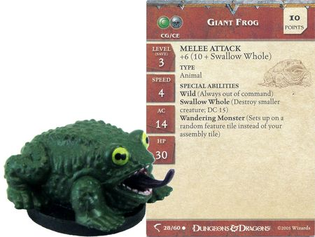 Giant Frog #28 Deathknell D&D Miniatures