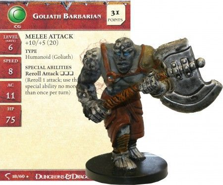 Goliath Barbarian #18 Deathknell D&D Miniatures