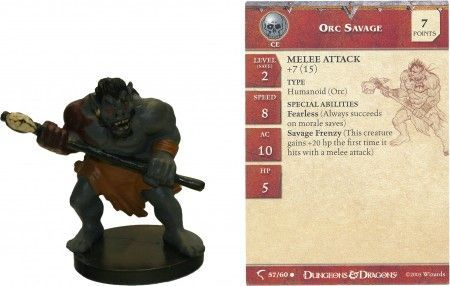 Orc Savage #57 Deathknell D&D Miniatures