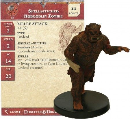 Spellstitched Hobgoblin Zombie #43 Deathknell D&D Miniatures