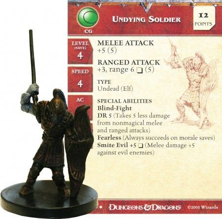 Undying Soldier #24 Deathknell D&D Miniatures