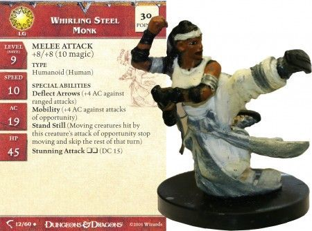 Whirling Steel Monk #12 Deathknell D&D Miniatures