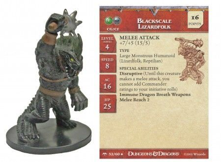 Blackscale Lizardfolk #32 Angelfire D&D Miniatures