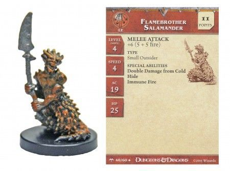 Flamebrother Salamander #40 Angelfire D&D Miniatures