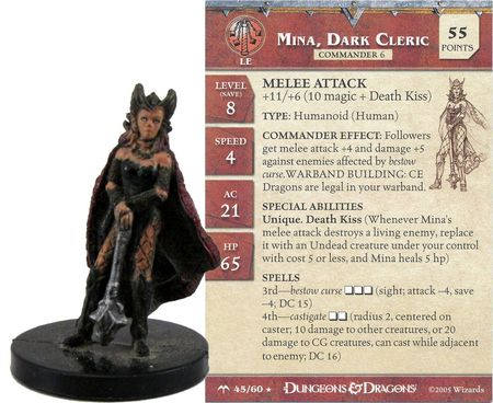 Mina, Dark Cleric #45 Angelfire D&D Miniatures