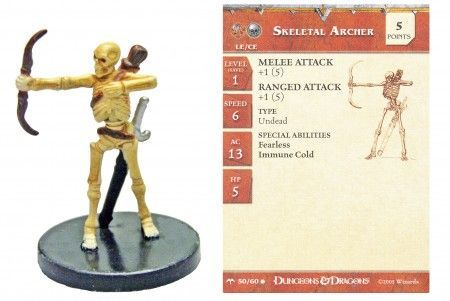 Skeletal Archer #50 Angelfire D&D Miniatures