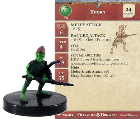 Thorn #25 Angelfire D&D Miniatures