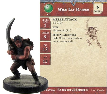 Wild Elf Raider #29 Angelfire D&D Miniatures