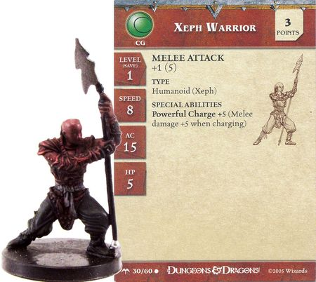 Xeph Warrior #30 Angelfire D&D Miniatures