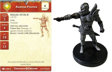 Aasimar Fighter #01 War of the Dragon Queen D&D Miniatures