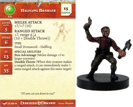 Halfling Brawler #17 Unhallowed D&D Miniatures