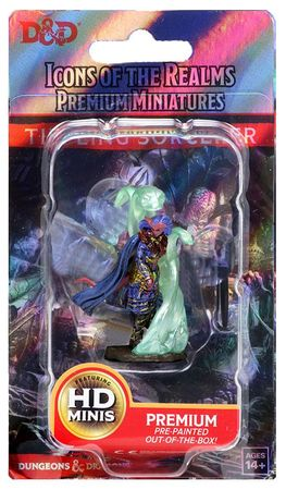 D&D Icons of the Realms Premium Painted Figure: Tiefling Female Sorcerer