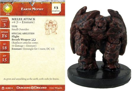 Earth Mephit #06 Night Below D&D Miniatures