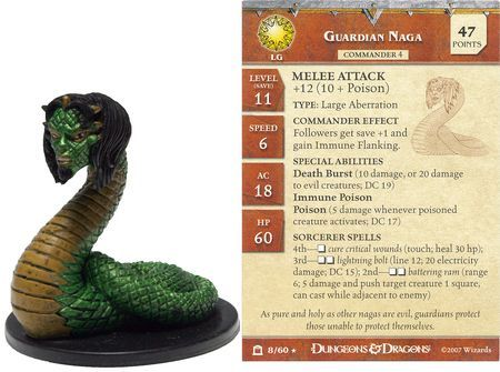 Guardian Naga #08 Night Below D&D Miniatures
