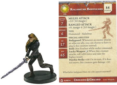 Kalashtar Bodyguard #09 Night Below D&D Miniatures