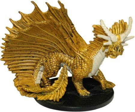 Large Gold Dragon #10 Night Below D&D Miniatures