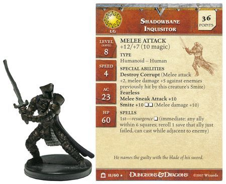 Shadowbane Inquisitor #11 Night Below D&D Miniatures