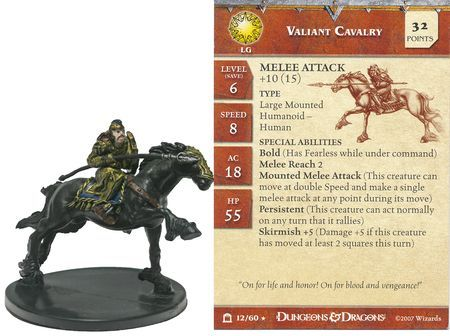 Valiant Cavalry #12 Night Below D&D Miniatures