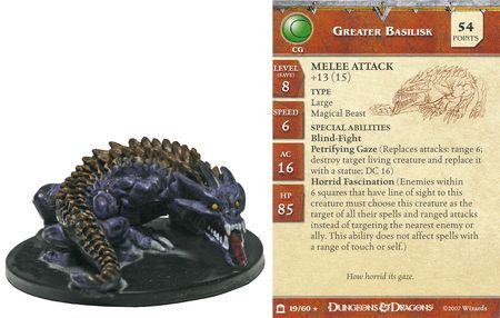 Greater Basilisk #19 Night Below D&D Miniatures
