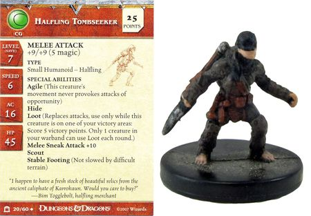 Halfling Tombseeker #20 Night Below D&D Miniatures