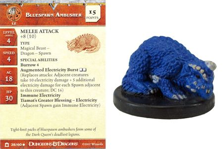 Bluespawn Ambusher #28 Night Below D&D Miniatures