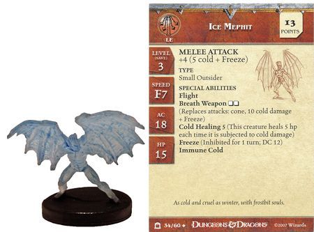 Ice Mephit #34 Night Below D&D Miniatures