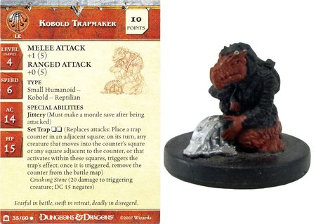 Kobold Trapmaker #35 Night Below D&D Miniatures