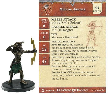 Medusa Archer #37 Night Below D&D Miniatures