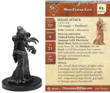 Mind Flayer Lich #38 Night Below D&D Miniatures