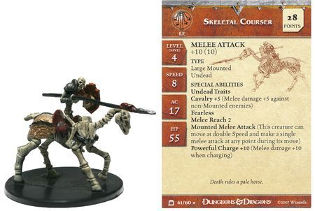 Skeletal Courser #41 Night Below D&D Miniatures