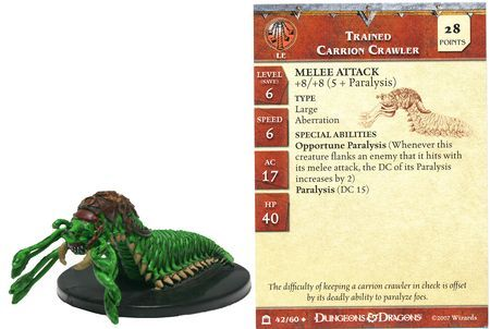 Trained Carrion Crawler #42 Night Below D&D Miniatures